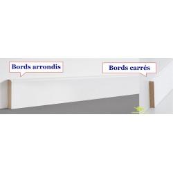 Plinthe en médium bois prépeinte blanche  plinthe carré ou arrondi