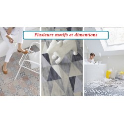 Tapis PVC Carreaux Ciment /...