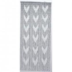 Rideau de porte Chenille Bicolore Largeur 90 cm x Longueur 210 cm Taupe et Beige