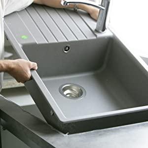 Colle éléments de cuisine Idéal pour coller votre évier de cuisine. Colle transparente. Crée un joint étanche et transparent.